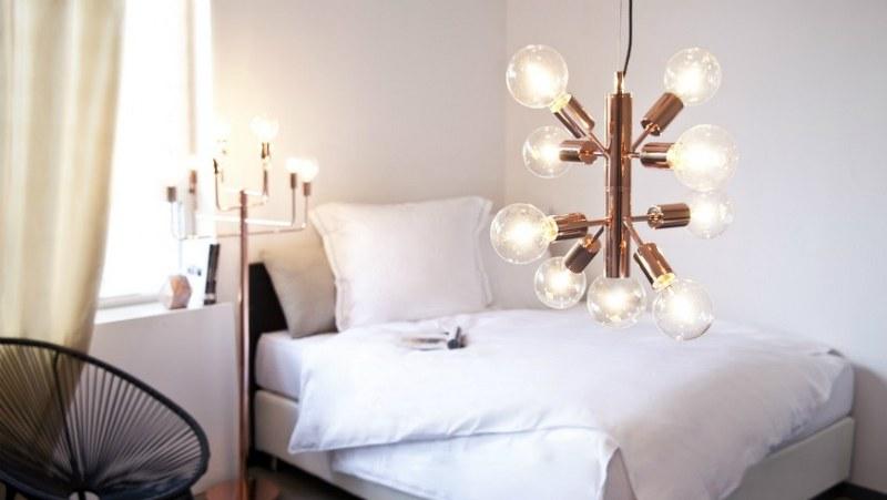 Come scegliere i lampadari per una camera da letto contemporanea ...